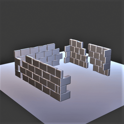 Mur en ruine.png Download OBJ file Ruined wall • Object to 3D print, castor0697