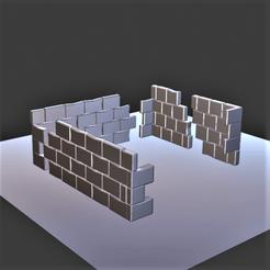 Mur en ruine.png Télécharger fichier OBJ Mur en ruine • Plan imprimable en 3D, castor0697