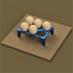 Descargar archivo STL Soporte para huevos de codorniz • Plan para imprimir en 3D, castor0697