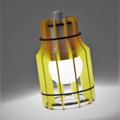 lampe à lamelles.png Download STL file Hanging lamp • 3D printable object, castor0697