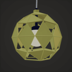 lustre jaune.png Download OBJ file Suspended chandelier • 3D print template, castor0697