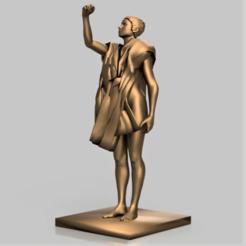 Statue association.png Télécharger fichier STL Statuette femme • Objet pour imprimante 3D, castor0697