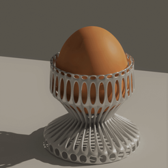 oeuf coque cult.png Download OBJ file Egg cup • 3D print object, castor0697