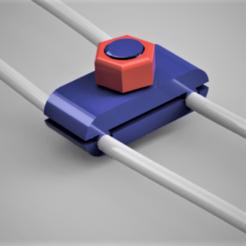 Download 3D printer designs Clip for earphone wires, castor0697