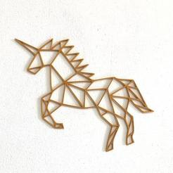 COVER.jpg Download 3MF file Low Poly Unicorn / Horse • 3D printable design, Makers_Block