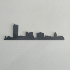 manchester.png Download STL file Manchester Skyline • 3D printer model, Makers_Block