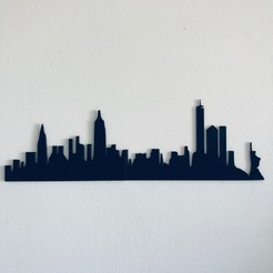 new york skyline.jpeg Download 3MF file New York Skyline • 3D printable object, Makers_Block