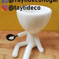 taytideco-robert-cocinero.png Download STL file Robert Plant cook • 3D print design, tayti3dprint