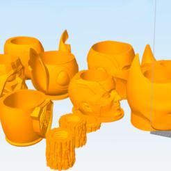 Taytideco-pack-mates.png Télécharger fichier STL Mates Pack plus de 100 stl + stl à évider pour l'adaptateur polymère • Plan pour impression 3D, tayti3dprint