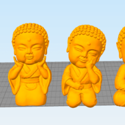 buddhas.png Download STL file Baby Buddha Buddha • Template to 3D print, tayti3dprint