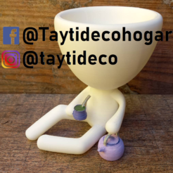 taytideco-robert-conPavayMate.png Download STL file Robert Plant with kettle and mate • 3D printer object, tayti3dprint