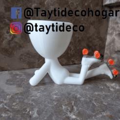 taytideco-robert-conPatines.png Télécharger fichier STL Robert Plant couché sur des patins • Modèle pour impression 3D, tayti3dprint
