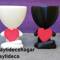 taytideco-robert-conCorazon0.png Download STL file Robert Plant with customizable heart • 3D print object, tayti3dprint