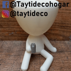 taytideco-robert-conLata.png Download STL file Robert Plant with can • Object to 3D print, tayti3dprint