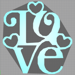 Download free 3D printing designs love - heart - heart - love, Juliedml