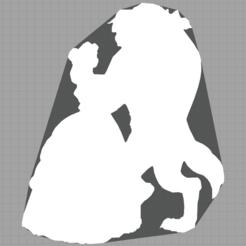 Capture.PNG Télécharger fichier STL Belle et la bête - Beauty and the beast - 2D - DISNEY • Plan pour impression 3D, Juliedml