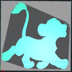 Télécharger fichier imprimante 3D simba - disney - roi lion - lion king - 2D, Juliedml