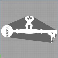 Capture hulk.PNG Télécharger fichier STL  clé hulk - keys avengers - marvel - disney - clef • Design à imprimer en 3D, Juliedml
