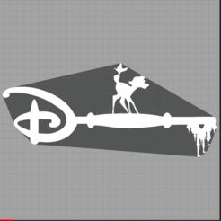 Capture bambi.PNG Télécharger fichier STL clé bambi - key bambi - faon - disney  • Modèle pour imprimante 3D, Juliedml