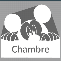 Capturechambre.PNG Télécharger fichier STL mickey - disney - décoration enfant - child decoration - 2D • Objet à imprimer en 3D, Juliedml