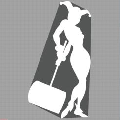 Capture.PNG Download STL file harley quinn - joker - suicide squad - 2D • 3D printing template, Juliedml