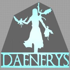 Capturedaenerys.PNG Download STL file daenerys - game of thrones • 3D printer design, Juliedml
