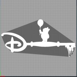 Capture winnie.PNG Télécharger fichier STL clé winnie l'ourson - key winnie the pooh - disney • Objet imprimable en 3D, Juliedml
