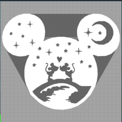 Capture mickey .PNG Télécharger fichier STL mickey - minnie - disney - décoration enfant - love - amour - lune - child decoration - 2D • Modèle pour imprimante 3D, Juliedml