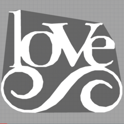 Download free STL files love - amour, Juliedml