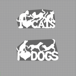 Capture dogs cats.PNG Télécharger fichier STL chat - chien - animaux - cat - dog - pets • Plan pour imprimante 3D, Juliedml