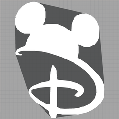 Capture.PNG Télécharger fichier STL mickey - disney - décoration enfant - child decoration - 2D • Objet à imprimer en 3D, Juliedml