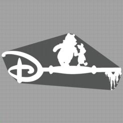 Capture winnie l'ourson.PNG Télécharger fichier STL clé winnie l'ourson - key winnie the pooh - disney  • Objet imprimable en 3D, Juliedml
