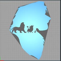 Capture.PNG Download STL file simba - disney - lion king • 3D print design, Juliedml