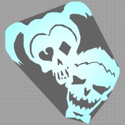 Captureharleyjoker.PNG Download STL file harley quinn - joker - suicide squad - 2D • 3D printing template, Juliedml