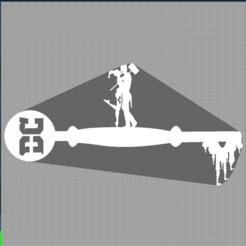 Capture harley quinn.PNG Download STL file key harley quinn - joker - suicide squad - key dc comics • 3D print design, Juliedml