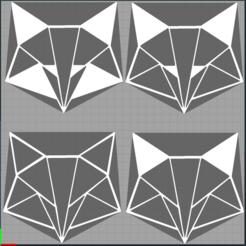 Capture 4 renards.PNG Télécharger fichier STL renard - fox - 2D • Plan pour imprimante 3D, Juliedml