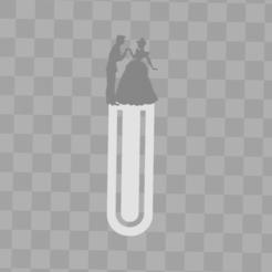 Capture cendrillon.PNG Télécharger fichier STL marque page - bookmark - cendrillon - prince charmant - cinderella - disney • Design à imprimer en 3D, Juliedml