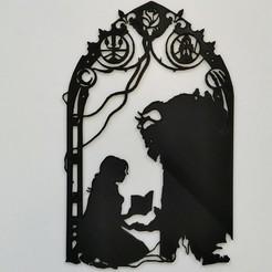 IMG_20200330_114429.jpg Télécharger fichier STL Belle et la bête - Beauty and the beast - 2D - DISNEY • Plan pour impression 3D, Juliedml