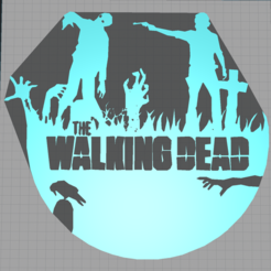 Capture.PNG Download STL file walking dead - rick - zombie - 2D • 3D print object, Juliedml