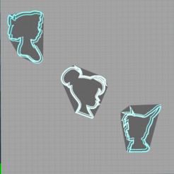 Capture peter pan.PNG Download STL file cookie cutters - cookie cutter - disney - peter pan - wendy • 3D printing design, Juliedml
