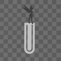 Download STL file bookmark - bookmark - bell fairy - disney • 3D printable template, Juliedml