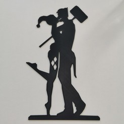IMG_20200411_125257.jpg Download STL file harley quinn - joker - harley quinn and joker - batman - suicide squad -2D • 3D printing design, Juliedml