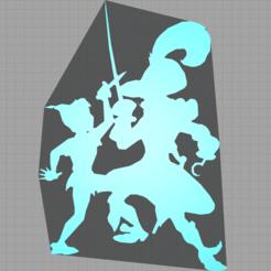 Capture.PNG Download STL file peter pan - hook - captain hook - disney - 2D • 3D print object, Juliedml