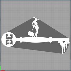 Capture harleu quinn.PNG Download STL file key harley quinn - joker - suicide squad - key dc comics • 3D print design, Juliedml