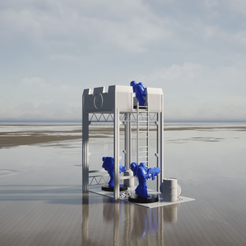 Vue1.png Download STL file Warhammer 40K terrain: watchtower • Template to 3D print, LGArchitecture