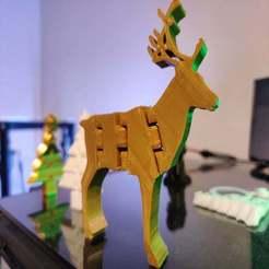 2019-11-14_09.31.44.jpg Download free STL file Flexible Christmas Reindeer • 3D printer template, prestige