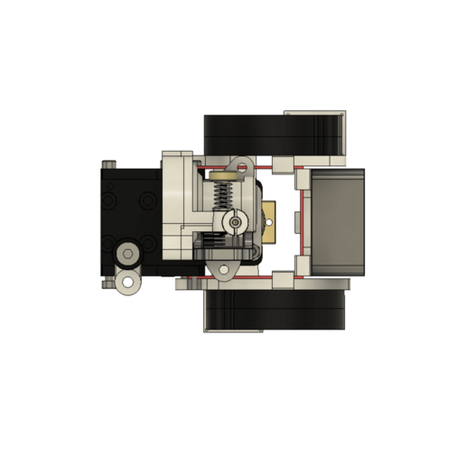 TopView.png Télécharger fichier STL gratuit Formbot Troodon Orbiter Direct Drive Extruder (DDE) Part 1/2 • Design pour impression 3D, ja11en