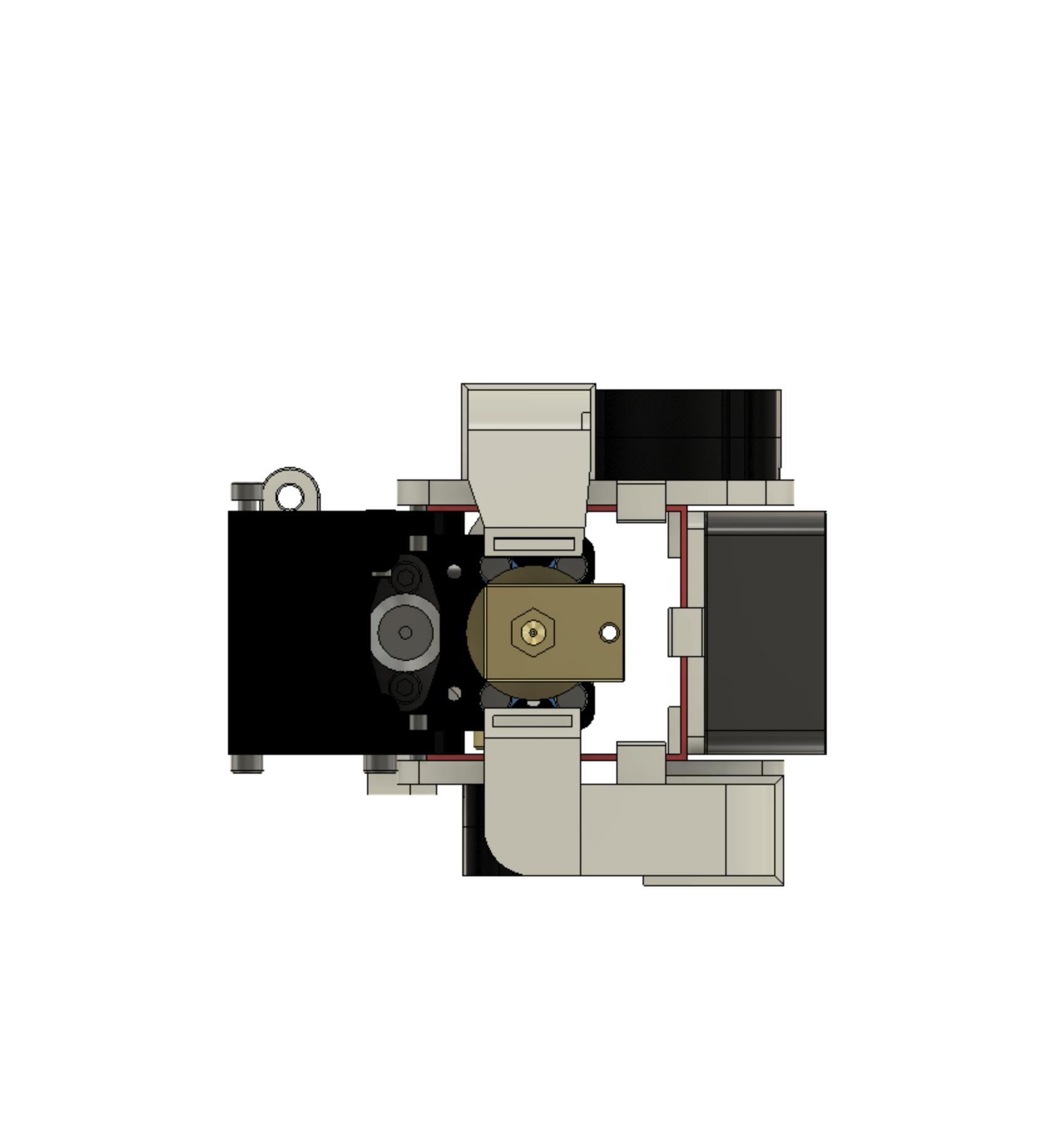 BottomView.png Télécharger fichier STL gratuit Formbot Troodon Orbiter Direct Drive Extruder (DDE) Part 1/2 • Design pour impression 3D, ja11en
