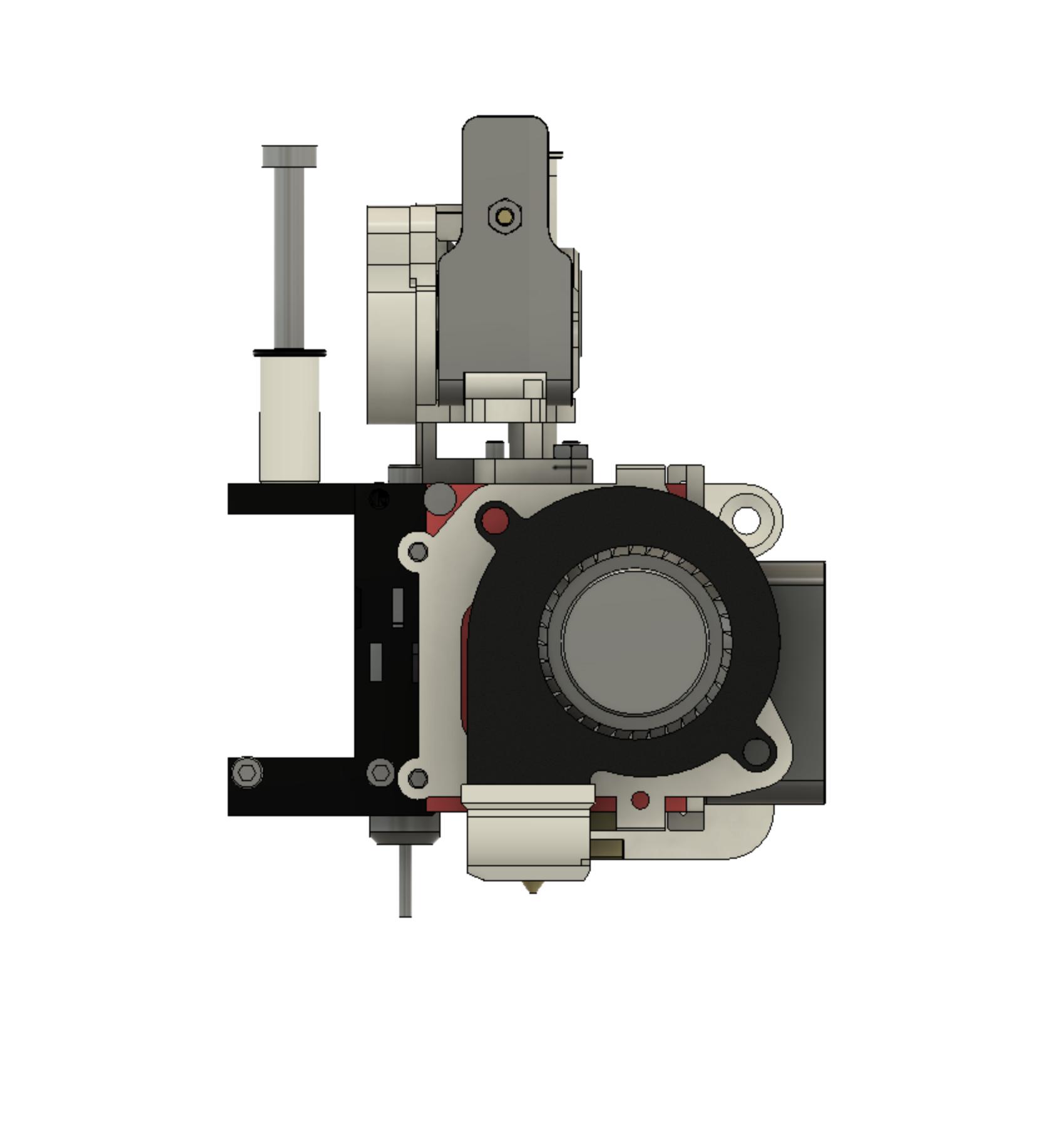 SideView.png Télécharger fichier STL gratuit Formbot Troodon Orbiter Direct Drive Extruder (DDE) Part 1/2 • Design pour impression 3D, ja11en