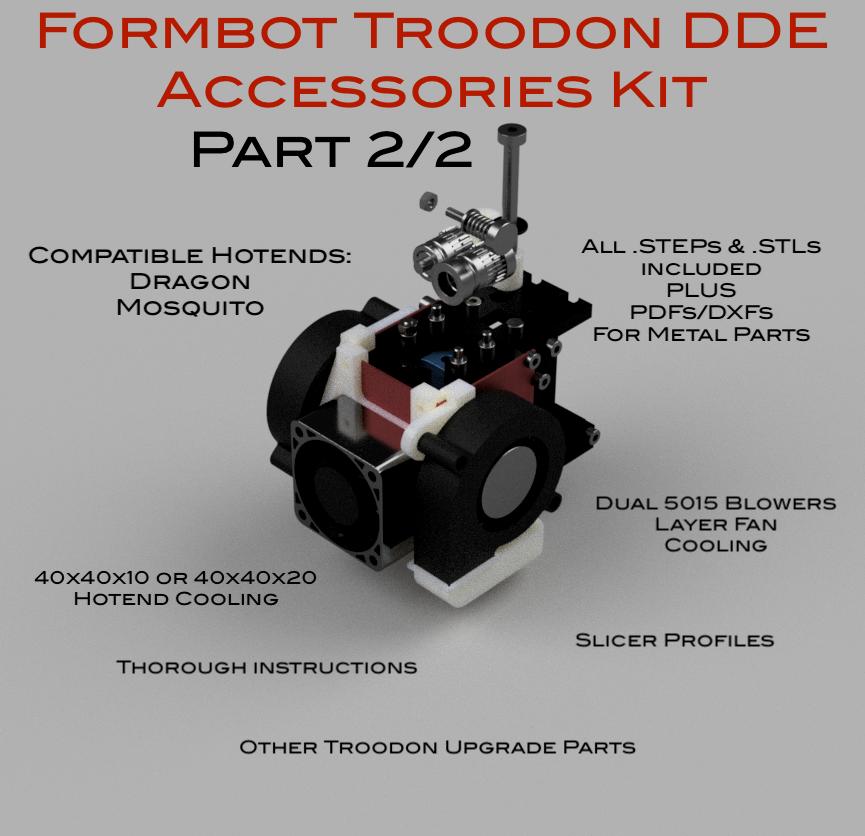 WJP Troodon Fan Shroud Kit Assy (Annotated).png Télécharger fichier STL Formbot Troodon Direct Drive Extruder (DDE) Part 2/2 Troodon Accessories Kit • Objet à imprimer en 3D, ja11en